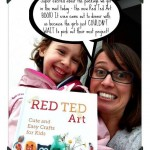 Mama Pea Pod gets her hands on Red Ted Art