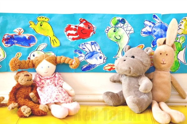 Hooray For Fish Footprint Fish For Kids Red Ted Art