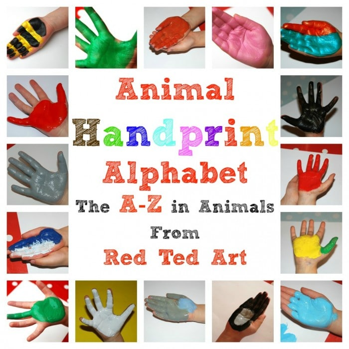 Collage of Animal Handprint ABC
