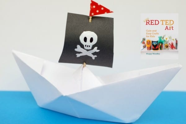 how to make a paper boat (easy origami for kids) love this pirate boat version!