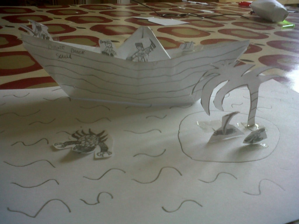 paper boat craft how to