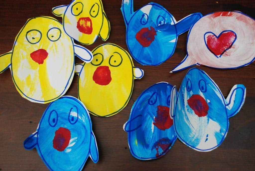 Pop Up Chick Card for Toddlers to Make