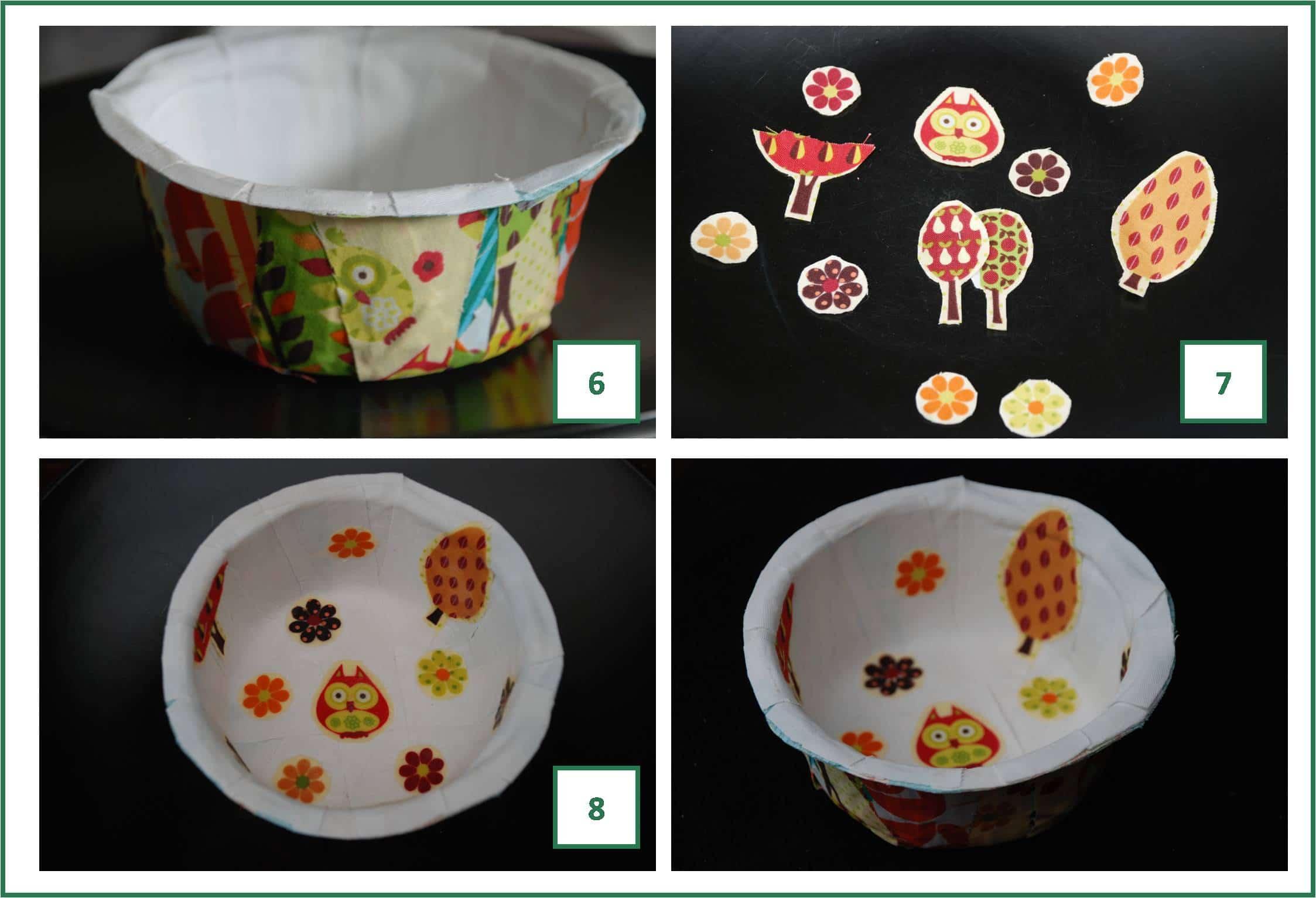 Fabric mache bowls