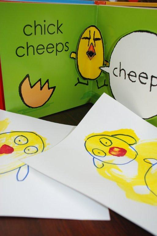 toddler chick cards