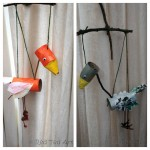 Autumn Leaf Marionette Birds