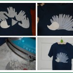 2 Hedgehog hand applique t-shirt
