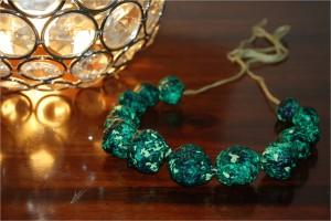 3 Paper Mache Necklace