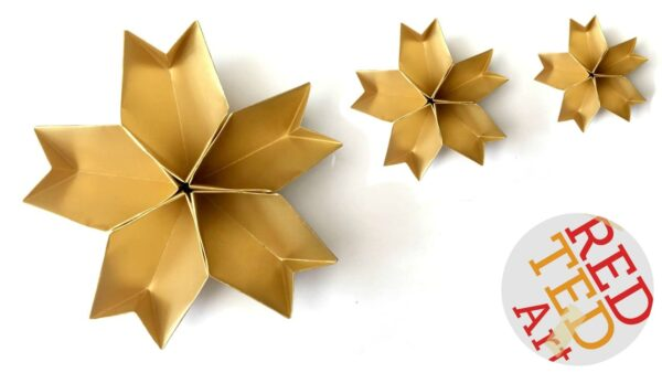 Easy origami for kids red ted art 39 s blog for How to make 3d paper stars easy
