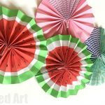 Easy Paper Fans - make watermelons or pretty patterns