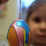 Egg Decorating Drip Art Rainbows