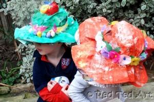 Newspaper Craft Ideas - newspaper hats