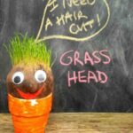 grass head, crafts for kids