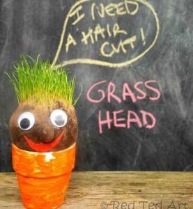 grass head, crafts for kids
