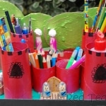 Kids Crafts: Castle Desk Tidy