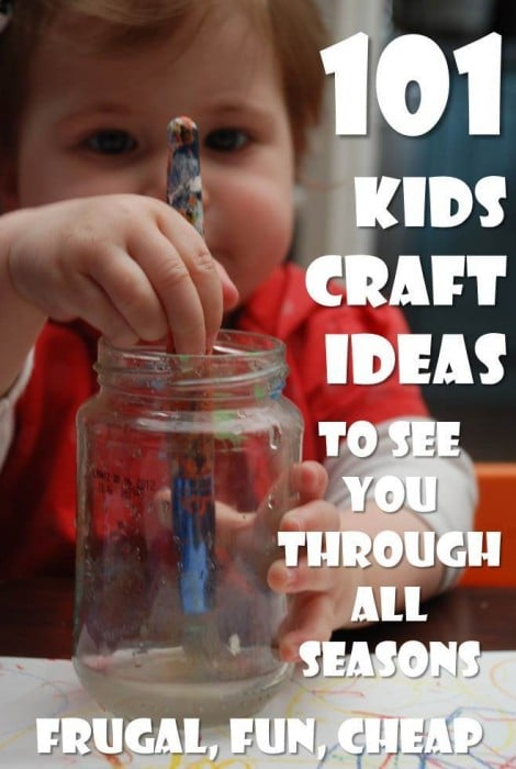 easy kids crafts ideas - so many great ideas that are doable and fun