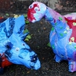 kids-crafts-paper-mache-dino-bank