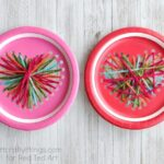Paper Plate Heart Sewing Craft