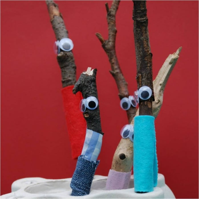 "Oh what a cute STICK MAN! If you love the Story ""Stick Man"" by Julia Donaldson.. you simply have to have a go at this oh so cute craft! Easy, fun, cute. Bring that book alive! #stickman #preschool #crafts #ece #juliadonaldson"