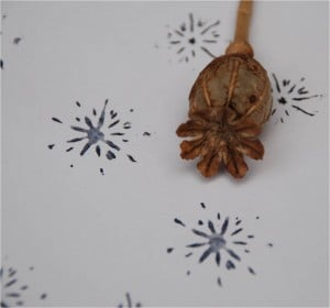 0 poppy snowflake stamp ink