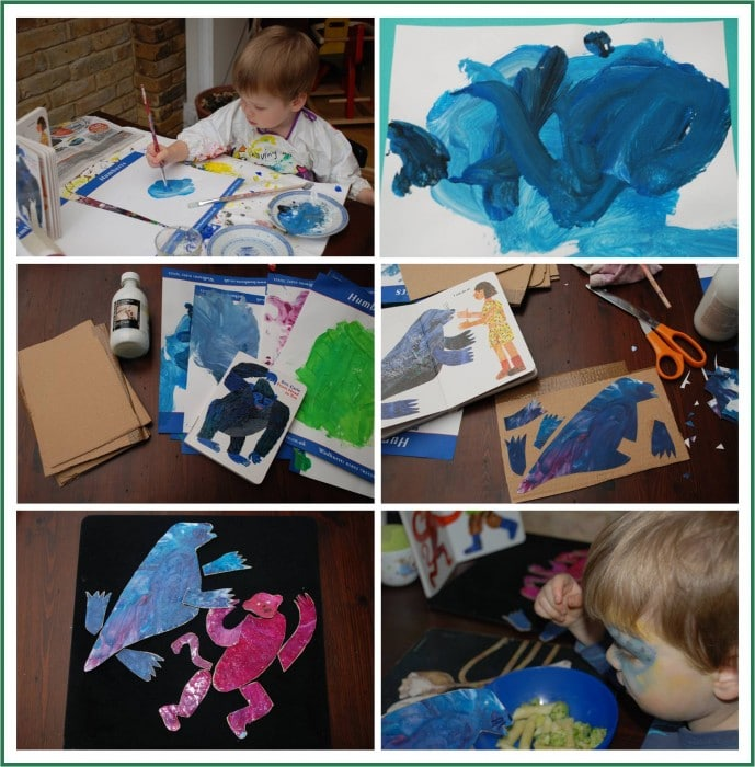 Eric Carle Inspired DIY puzzle