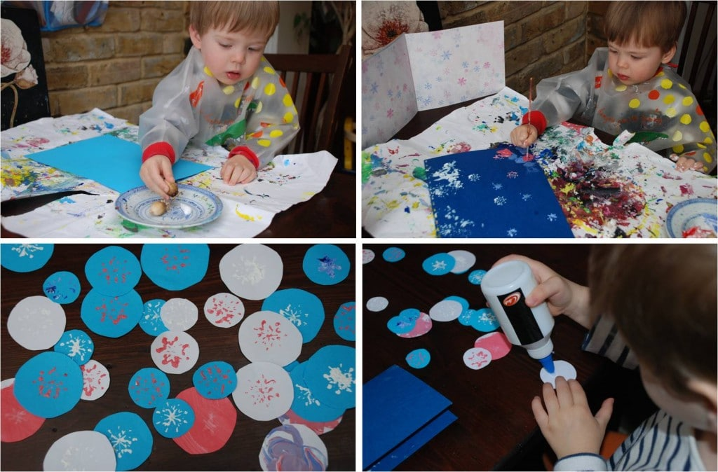 Kids Crafts Snowflakes In Autumn Using Nature To Make