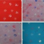 2 snowflake prints