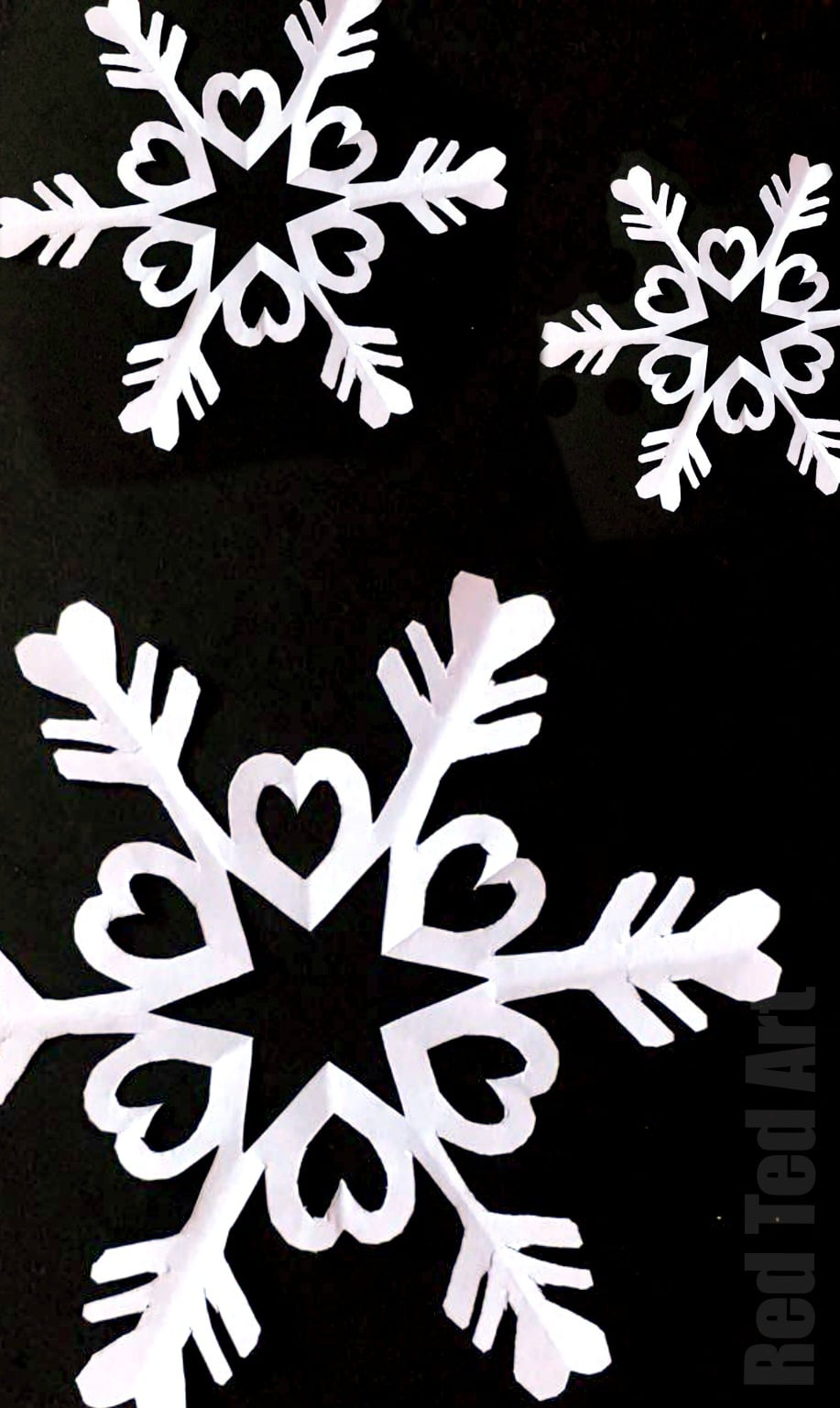6 point snowflake template  Paper Snowflakes - Six Pointed Snowflakes