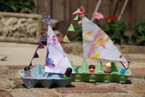 egg carton boat