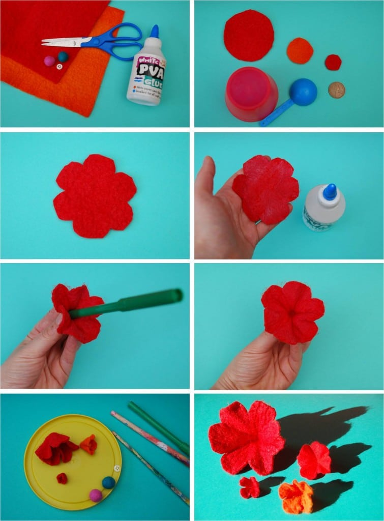 How to make pretty 3d felt flowers red ted arts blog 1 mightylinksfo