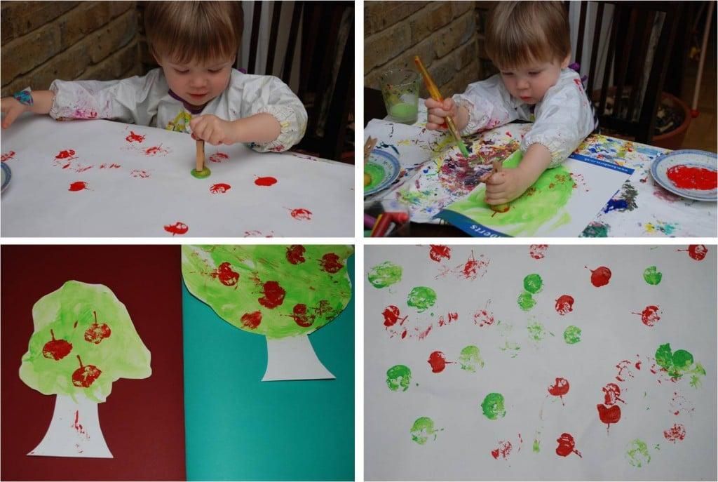 Kids Crafts - Making Apple Prints a Little Easier - Red Ted Art\'s Blog