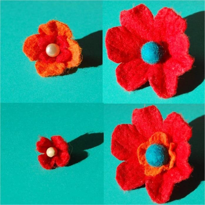 How to… make pretty 3D Felt Flowers