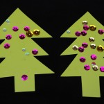 Christmas Tree Cards by Kids