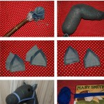 step by step DIY sock stick horse