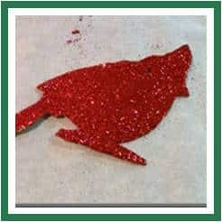 Bird Glitter Red