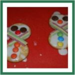 Snowman Cookie (red ted art)