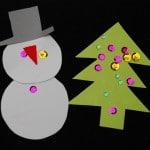 Snowman & Trees