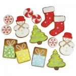 Christmas Royal Icing Cookie Ideas via www.redtedart.com