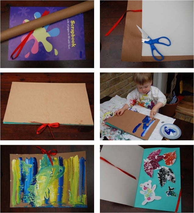 Make Your Own Calendar Art And Craft : How to make your own scrapbook artwork calendar red