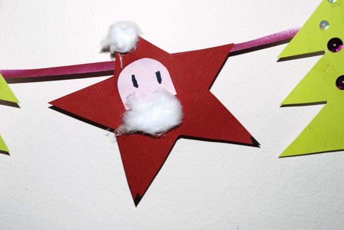 Santa Stars Craft #Christmas