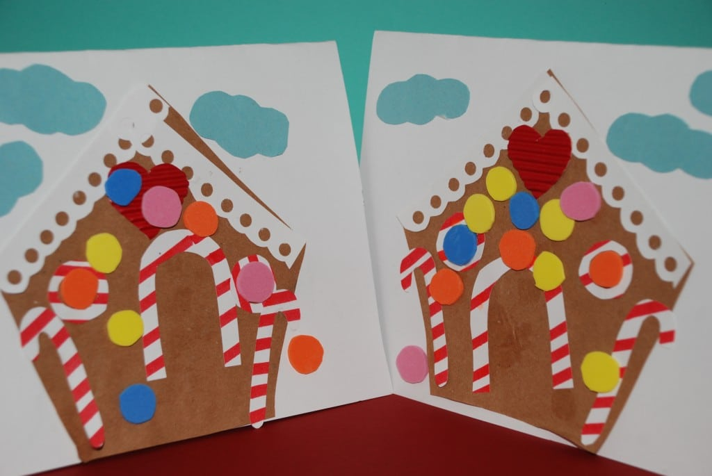Gingerbread House Card Making For Preschool Red Ted Art
