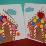 Gingerbread House Card Making for Preschool
