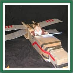 Plane cardboard box
