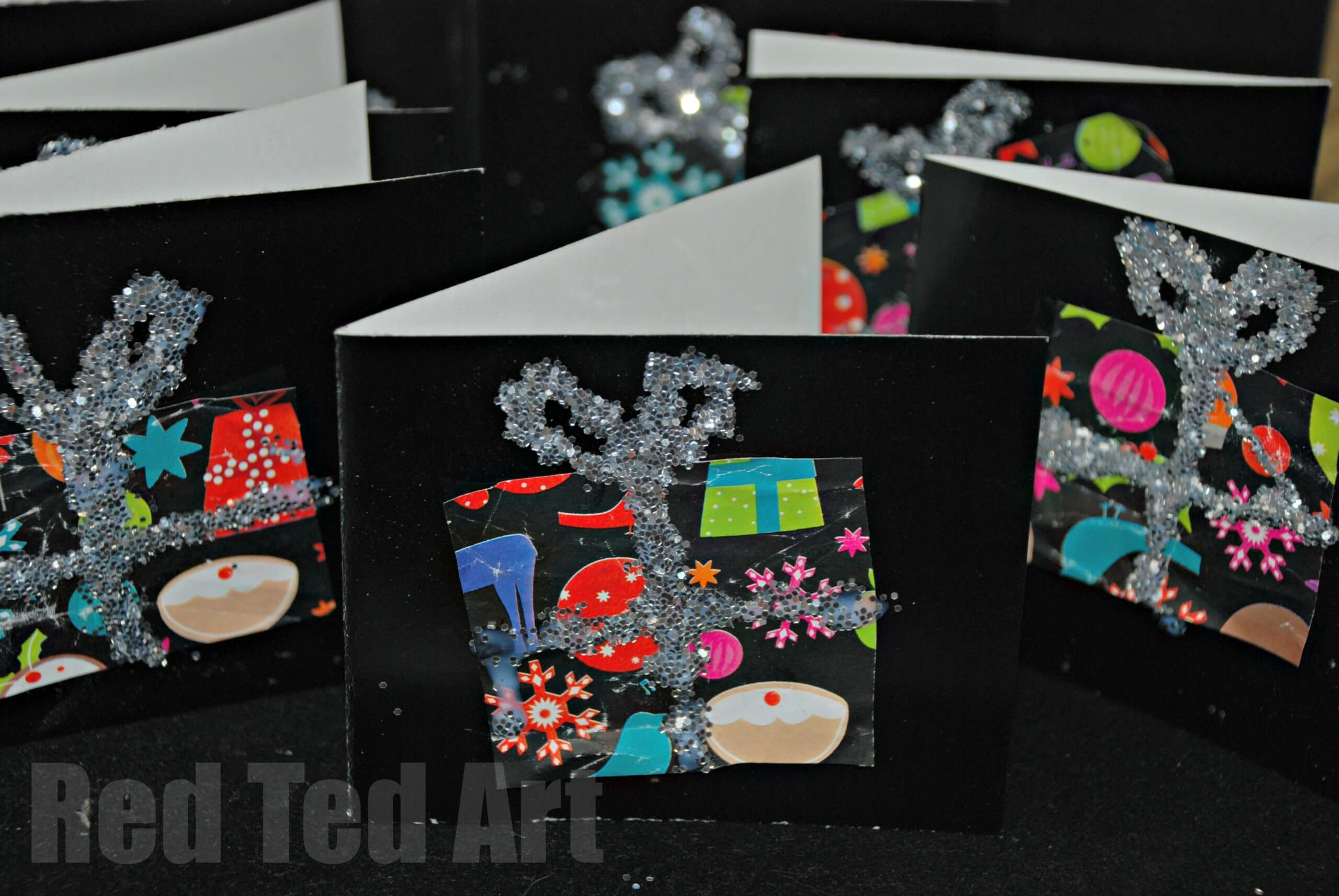 Birthday Card Ideas For Children To Make Part - 25: Kids Get Crafty: Recycled Christmas (or Birthday) Thank Yous - Red Ted  Artu0027s Blog