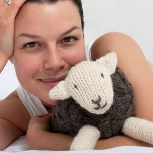 herdy soft toy or hot water bottle cover  2 in 1 knit kit  herdy