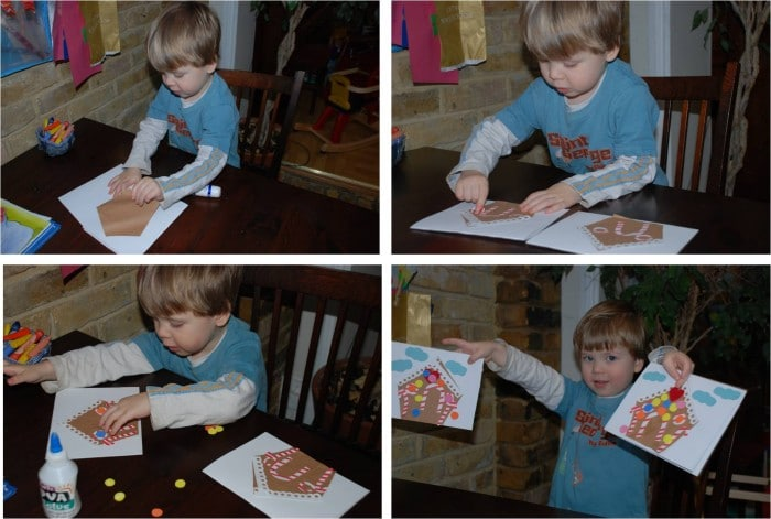 making gingerbread house cards