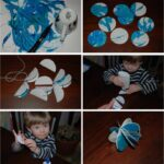 making paper baubles