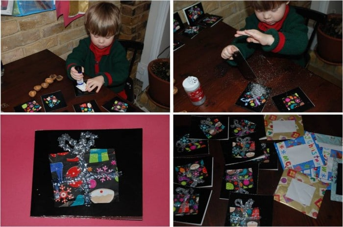 Kids Get Crafty Recycled Christmas Or Birthday Thank Yous Red