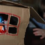 Kids Get Crafty – Penguins, Boys, Umbrellas & Card Board Boxes…