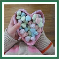 clay heart bowls