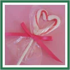 heart lollies